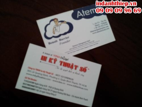 In ấn nhanh name card tại quận Bình Thạnh với Công ty TNHH In Kỹ Thuật Số