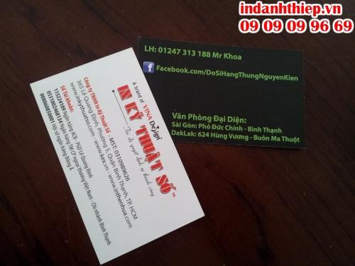 Name card có tầm quan trọng trong kinh doanh, được thực hiện in ấn tại Công ty TNHH In Kỹ Thuật Số